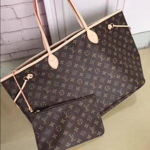 New LOUIS VUITTON Neverfull Handbag Purse Nbububda